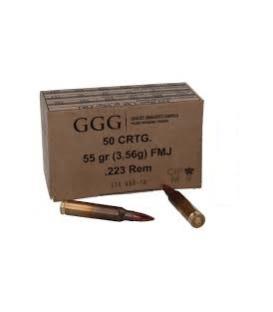 Amunicja GGG .223 REM 55gr. FMJ