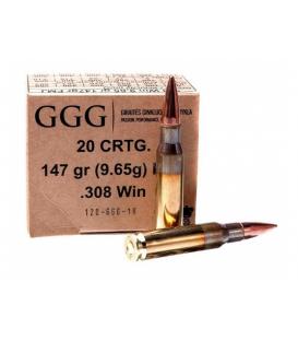 Amunicja karabinowa GGG .308Win GPX11, 147gr FMJ