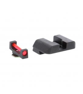 Przyrządy celownicze Ameriglo Glock Fiber Combination Sight Sets - Red Fiber