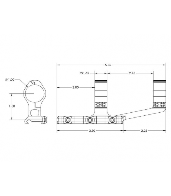 Montaż Aero Precision Ultralight 1 Scope Mount SPR – Black
