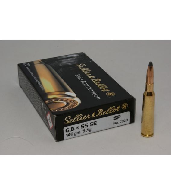 Amunicja 6,5 x 55 SE SP 9,1 gr.