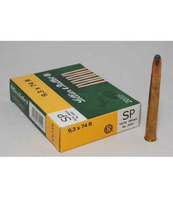 Amunicja 9,3 x 74R SP 18,5 gr.